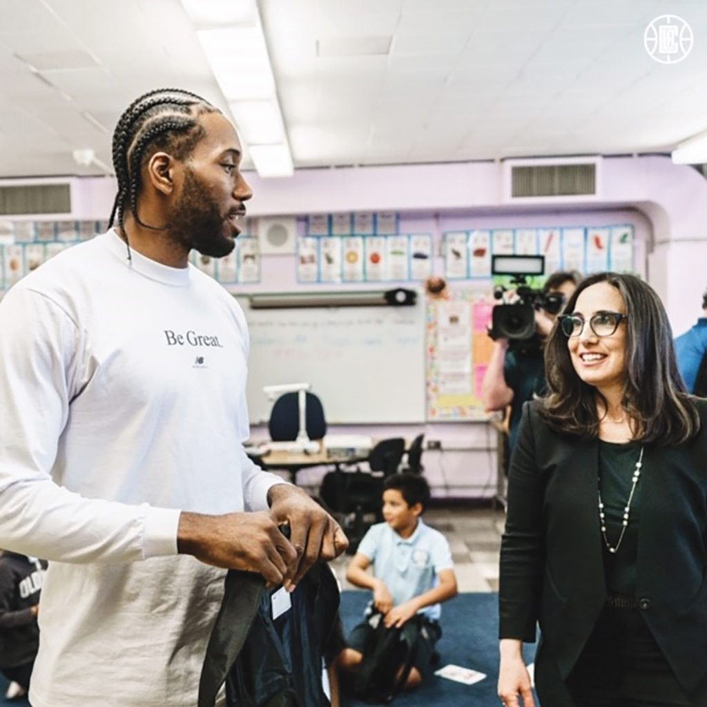 Kawhi Leonard, the L.A. Clippers Foundation and Baby2Baby gives back