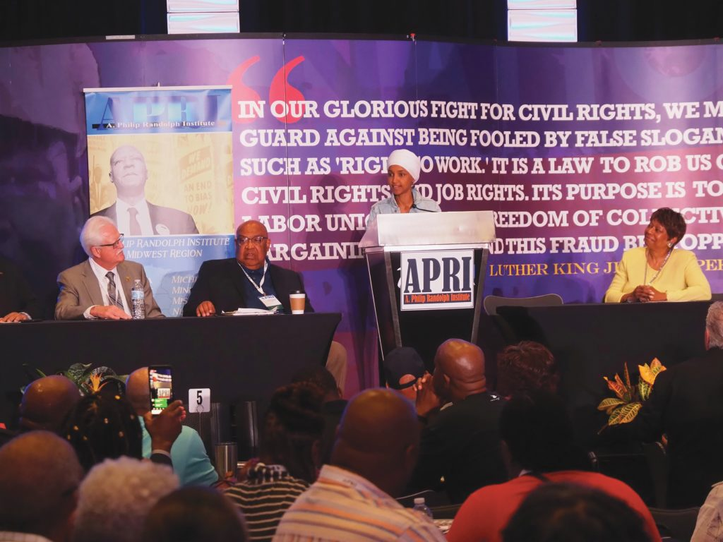 PRESS ROOM: Rep. Ilhan Omar (D-MN), Celebrities, Politicians Electrify Attendees at A. Philip Randolph Institute's 50th Annual National Education Conference in Minnesota