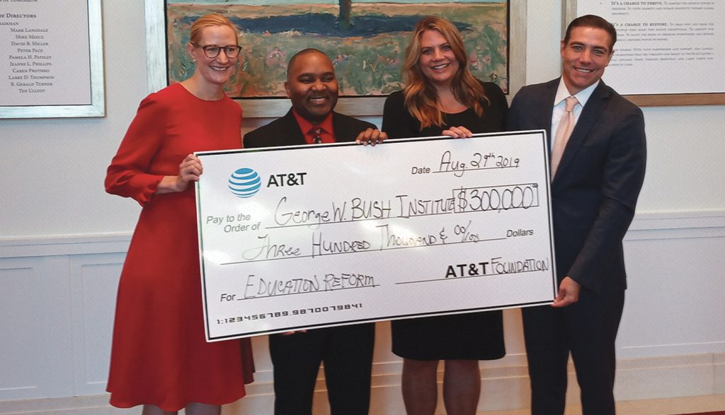 AT&T Foundation Makes $300,000 Contributionto George W. Bush Institute