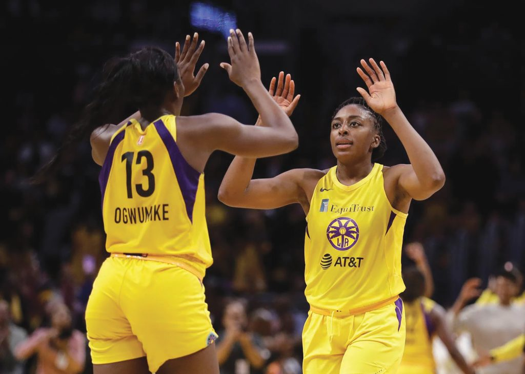 Sparks Rout Storm in the WNBA Playoffs