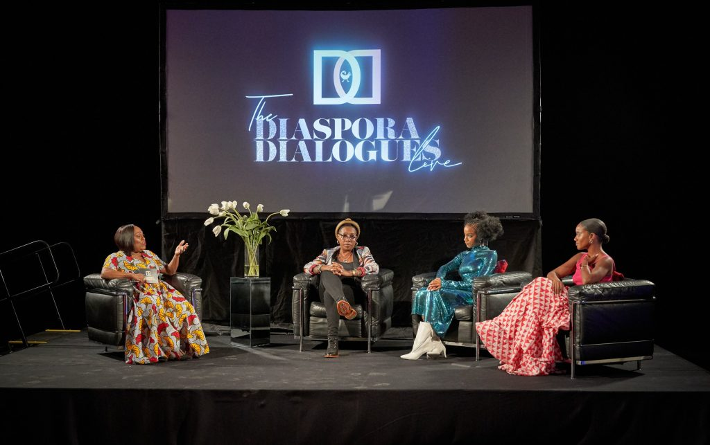 The Diaspora Dialogues Visionary Creator Koshie Mills Receives A Standing Ovation For Her Groundbreaking Talk Show Live Conversation In Los Angeles
