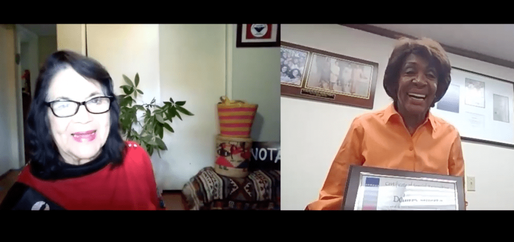 WATCH: Rep. Waters Wishes Labor Rights Icon Dolores Huerta Happy 90thBirthday