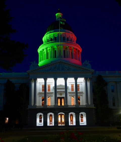 CaliforniaState Capitol Goes Black…Red and Green toMarkJuneteenth