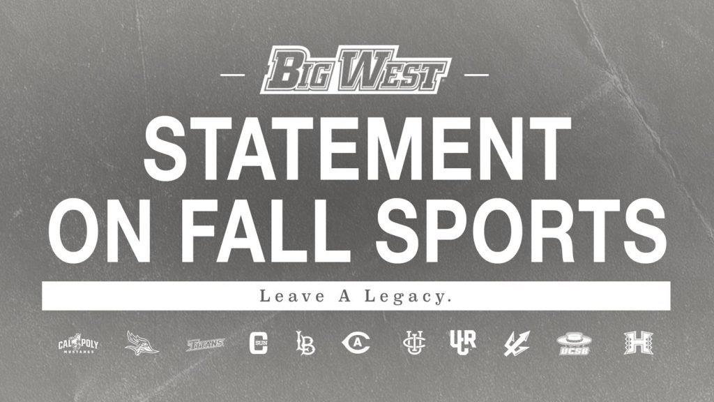 Big West Provides Update on Fall Sports Competition