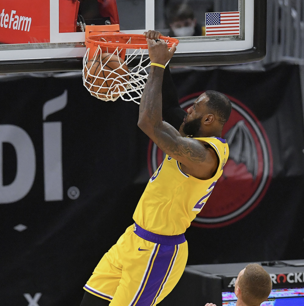 """Lakers, LeBron get """"home cooking"""""""
