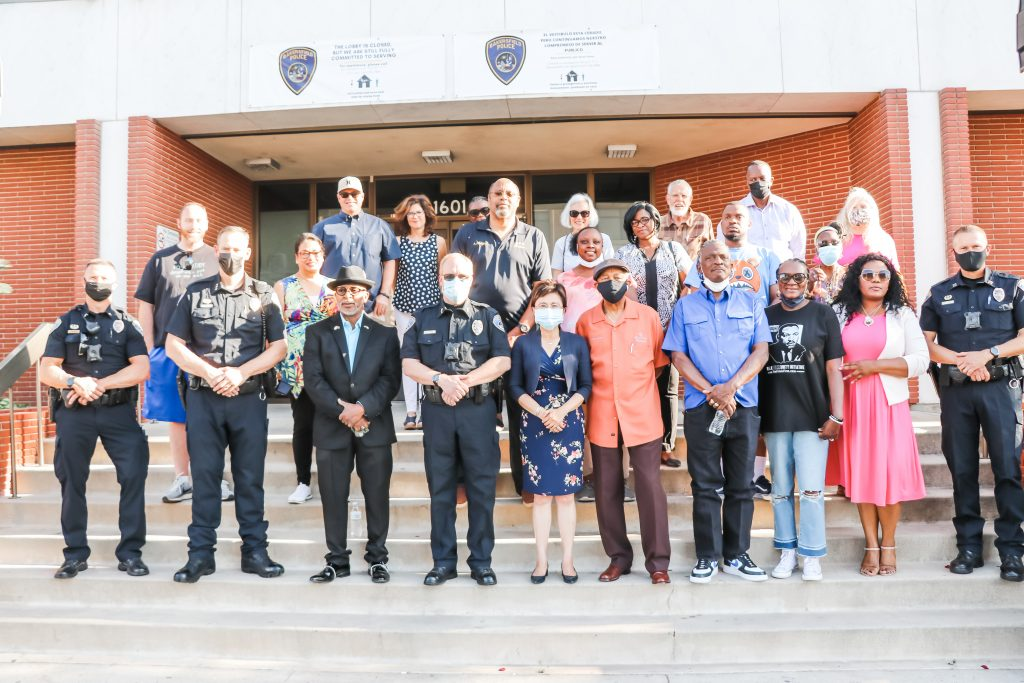Local Pastors, Law Enforcement, Community Leaders, and more, came together holding a prayer vigil in response to the fatal police shooting of Daunte Wright