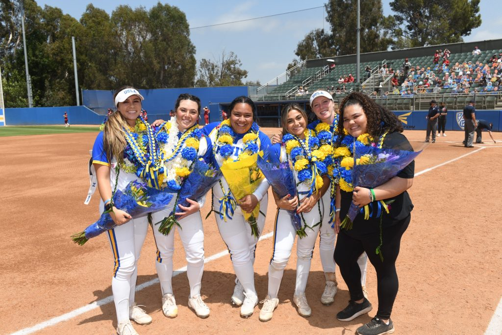 Bruins Honor Seniors/Moms With a Sweep