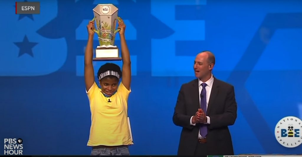 14-Year-old Becomes First African American to Win Scripps National Spelling Bee