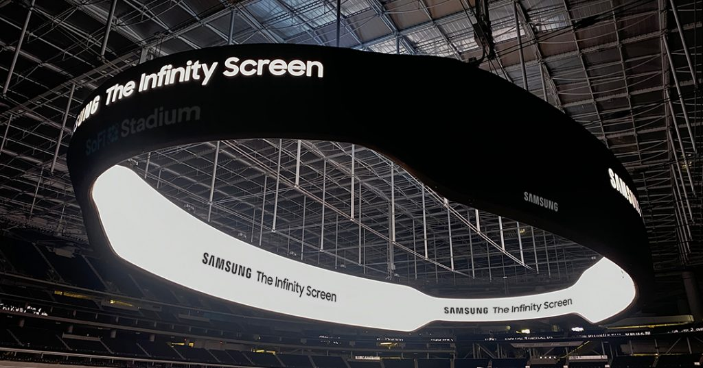 SoFi Stadium and Samsung Reveal New Name for 70,000 Square Foot Videoboard: The Infinity Screen by Samsung
