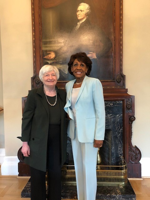 Rep. Waters Meets with Secretary Yellen, Discusses Implementation of Rental Assistance