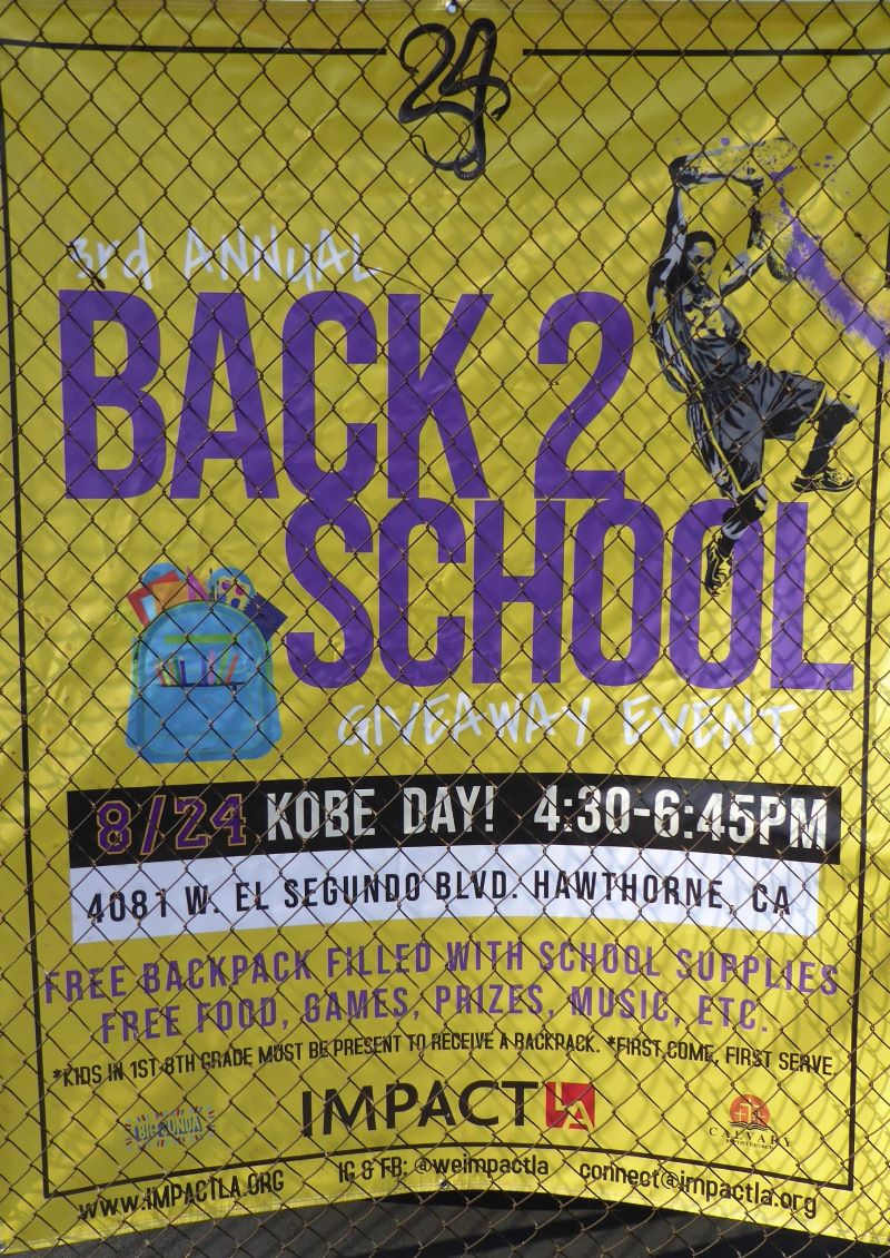 3rd Annual Back 2 School Giveaway, Kobe Day!