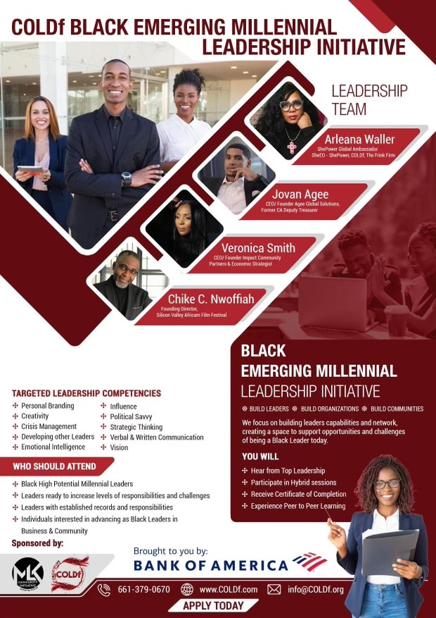 COLDf (MlkcommUNITY Initiative) Launches COLDf Black Millennial Leadership Program With Support From Of Bank Of America